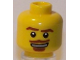 Part No: 3626bpb0427  Name: Minifigure, Head Brown Eyebrows, Goatee and Moustache, White Mouth and White Pupils Pattern - Blocked Open Stud