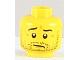 Part No: 3626bpb0684  Name: Minifigure, Head Beard Stubble, Wrinkles and Worried Look Pattern - Blocked Open Stud