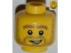 Part No: 3626bpb0848  Name: Minifigure, Head Beard Stubble, Thick Dark Tan Eyebrows and Open Grin Pattern - Blocked Open Stud