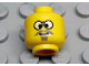 Part No: 3626bpx55  Name: Minifigure, Head Glasses with Gray Moustache, Crosseyed Pattern - Blocked Open Stud