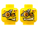 Part No: 3626cpb0447  Name: Minifigure, Head Dual Sided Red Spots and Glasses, Determined / Evil Smile Pattern - Hollow Stud