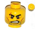 Part No: 3626cpb0990  Name: Minifigure, Head Beard Stubble, Scars over Right Eyebrow and Mouth, Angry Pattern - Hollow Stud