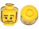 Part No: 3626cpb1063  Name: Minifigure, Head Beard Stubble, Sideburns, Eyebrows, Crow's Feet Pattern - Hollow Stud
