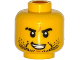 Part No: 3626cpb1330  Name: Minifigure, Head Beard Stubble, Black Eyebrows, Scar on Right Eyebrow, Open Mouth with Teeth Pattern - Hollow Stud