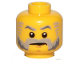 Part No: 3626cpb1335  Name: Minifigure, Head Beard Gray with Gray Eyebrows, Sideburns and Stern Pattern (Governor) - Hollow Stud