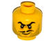 Part No: 3626cpb1549  Name: Minifigure, Head Beard Gray Stubble, Black Moustache and Angry Eyebrows, Lines under Eyes, Smirk Pattern - Hollow Stud