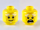 Part No: 3626cpb1919  Name: Minifig, Head Dual Sided White Bushy Eyebrows, Goatee, Wrinkles, Smile / Open Mouth Scared Pattern - Stud Recessed