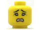 Part No: 3626cpb2007  Name: Minifig, Head Female, Black Eyebrows and Eyes with Three Eyelashes, Scared with Gritted Teeth Pattern  - Stud Recessed