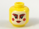 Part No: 3626cpb2049  Name: Minifig, Head Female, White Painted Face, Red Eye Makeup, Cheek Circles, and Lips Pattern