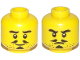 Part No: 3626cpb2205  Name: Minifigure, Head Dual Sided Beard Stubble, Thick Eyebrows, Pencil Moustache, Soul Patch, Smile / Frown Pattern - Hollow Stud