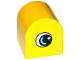 Part No: 3664pb29  Name: Duplo, Brick 2 x 2 x 2 Curved Top with Eye with White and Medium Azure on Both Sides Pattern