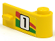 Part No: 3821pb006  Name: Door 1 x 3 x 1 Right with Number 1 and Red and Green Stripe Pattern (Sticker) - Set 6550