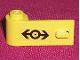 Part No: 3822pb012  Name: Door 1 x 3 x 1 Left with Train Logo Black Pattern (Sticker) - Set 4546