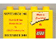 Part No: 4066pb021  Name: Duplo, Brick 1 x 2 x 2 with Made In Connecticut September 1981 Pattern