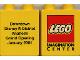 Part No: 4066pb022  Name: Duplo, Brick 1 x 2 x 2 with Imagination Center (Disney Anaheim) Pattern