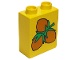 Part No: 4066pb024  Name: Duplo, Brick 1 x 2 x 2 with Hazelnuts Cluster Pattern