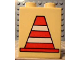 Part No: 4066pb036  Name: Duplo, Brick 1 x 2 x 2 with Construction Cone 1 Pattern