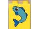 Part No: 4066pb054  Name: Duplo, Brick 1 x 2 x 2 with Fish Small Pattern
