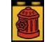 Part No: 4066pb062  Name: Duplo, Brick 1 x 2 x 2 with Fire Hydrant Pattern