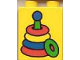 Part No: 4066pb074  Name: Duplo, Brick 1 x 2 x 2 with Stacking Toy Pattern
