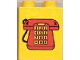 Part No: 4066pb100  Name: Duplo, Brick 1 x 2 x 2 with Telephone Pattern 1, Red