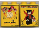 Part No: 4066pb120  Name: Duplo, Brick 1 x 2 x 2 with Halloween 2002 Brick or Treat / Happy Halloween Pattern (Legoland Logo)