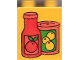 Part No: 4066pb140  Name: Duplo, Brick 1 x 2 x 2 with Fruit Juice Containers Pattern