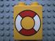 Part No: 4066pb161  Name: Duplo, Brick 1 x 2 x 2 with Life Preserver Pattern