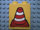Part No: 4066pb162  Name: Duplo, Brick 1 x 2 x 2 with Construction Cone 2 Pattern