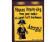 Part No: 4066pb313  Name: Duplo, Brick 1 x 2 x 2 with Happy Brick-Day and Pirate Pattern