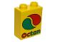 Part No: 4066pb347  Name: Duplo, Brick 1 x 2 x 2 with Octan Logo Pattern