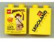 Part No: 4066pb350  Name: Duplo, Brick 1 x 2 x 2 with Indiana Jones Legoland Windsor 2009 Fireworks Pattern