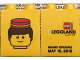 Part No: 4066pb464  Name: Duplo, Brick 1 x 2 x 2 with Legoland Hotel Grand Opening May 15, 2015 Pattern