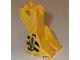 Part No: 41525pb01  Name: Support Foot Platform with Black Danger Stripes and Hose Pattern (Robot Diver)