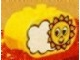 Part No: 4198pb11  Name: Duplo, Brick 2 x 4 x 2 Rounded Ends with Sun and Cloud Pattern