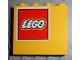 Part No: 4215pb038L  Name: Panel 1 x 4 x 3 with Lego Logo Pattern Upper Left (Sticker) - Set 4030