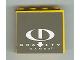 Part No: 4215pb054  Name: Panel 1 x 4 x 3 with Gravity Games Logo White on Dark Gray Pattern (Sticker) - Set 3538