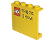 Part No: 4215pb065  Name: Panel 1 x 4 x 3 with LEGO Logo with Black Border and 'TRUCK SHOW' Pattern (Sticker)
