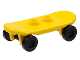 Part No: 42511c01  Name: Minifig, Utensil Skateboard with Trolley Wheel Holders and Black Trolley Wheels (42511 / 2496)