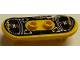 Part No: 42511pb17  Name: Minifig, Utensil Skateboard with Trolley Wheel Holders with Island Xtreme Stunts Logo and Skid Plates with Rivets Pattern (Sticker) - Set 6740