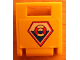 Part No: 4346pb21  Name: Container, Box 2 x 2 x 2 Door with Slot and Coast Guard Logo Pattern (Sticker) - Set 7044