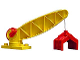 Part No: 4567c01  Name: Duplo Crane Base with Arm with Winch & Claw