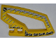 Part No: 45783pb01  Name: Technic, Panel RC Car Panel Flexible Right with Dirt Crusher Logo and Gray Stripes on Yellow and Black Background Pattern (Stickers) - Set 8369-1