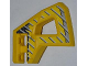 Part No: 45784pb02  Name: Technic, Panel RC Car Flexible Bumper Right with Gray Stripes on Yellow and Black Background Pattern (Stickers) - Set 8369-1