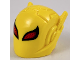 Part No: 46534pb01  Name: Minifigure, Headgear Helmet with Ear Antennae, Large Red Eyes with Black Outline and Dark Red Spots Pattern