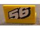 Part No: 4865pb037  Name: Panel 1 x 2 x 1 with White Number 56 Sloping Upward Pattern (Sticker) - Set 8183