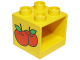 Part No: 4890px1  Name: Duplo Furniture Cabinet 2 x 2 x 1.5 with Apples Pattern