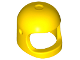 Part No: 50665  Name: Minifigure, Headgear Helmet Old with Thick Chin Strap - with Visor Dimples (Reissue with Top Dimple)