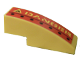 Part No: 50950pb001R  Name: Slope, Curved 3 x 1 No Studs with 'DANGER' and Black Dots Right Pattern (Sticker) - Set 7776