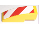 Part No: 50950pb009L  Name: Slope, Curved 3 x 1 No Studs with Red and White Danger Stripes Pattern Left (Sticker)